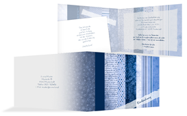 Weihnachts Einladungskarte geschäftlich Geschenkpapier - Blau (K19)