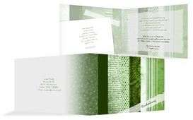 Weihnachts Einladungskarte geschäftlich Geschenkpapier - Grün (K19)