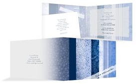 Weihnachts Grußkarte geschäftlich Geschenkpapier - Blau (K19)