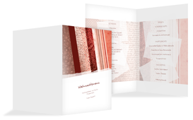 Weihnachts Menükarte Geschenkpapier - Rot (K38)