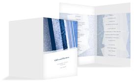 Weihnachts Menükarte Geschenkpapier - Blau (K38)