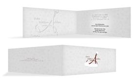 Weihnachts Grußkarte privat A_Mütze - Rot (K33)