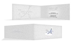 Weihnachts Grußkarte privat A_Mütze - Blau (K33)