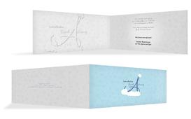 Weihnachts Einladungskarte privat A_Mütze - Blau (K33)