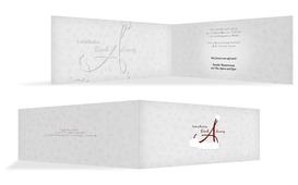 Weihnachts Einladungskarte privat A_Mütze - Rot (K33)