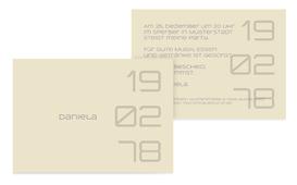 Geburtstagseinladung Datum - Grün (K25)