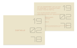 Geburtstagseinladung Datum - Orange (K25)