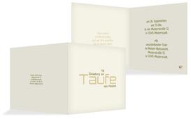 Taufe Einladungskarte Vogel - Grün (K24)