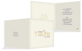 Taufe Einladungskarte Vogel - Lila (K24)