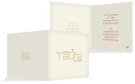 Taufe Einladungskarte Vogel - Orange (K24)