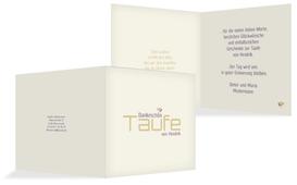 Taufe Dankeskarte Vogel - Lila (K24)