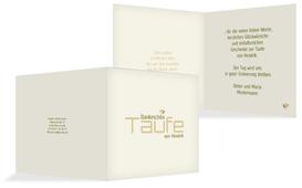 Taufe Dankeskarte Vogel - Grün (K24)