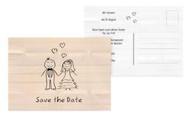 Save the Date Karte zur Hochzeit Sweet Love - Orange (K25)