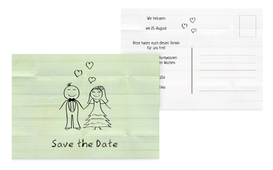 Save the Date Karte zur Hochzeit Sweet Love - Grün (K25)