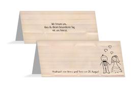 Tischkarte zur Hochzeit Sweet Love - Orange (K32)