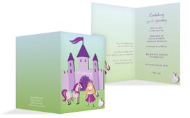 Einladung zum Kindergeburtstag Märchenprinzessin - Lila (K20)