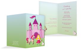 Einladung zum Kindergeburtstag Märchenprinzessin - Pink (K20)