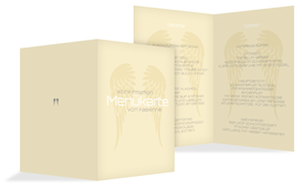 Menükarte Konfirmation Schutzengel - Champagne (K38)