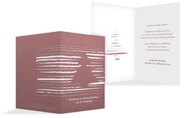 Weihnachts Einladungskarte privat Kreidentanne - Rot (K20)