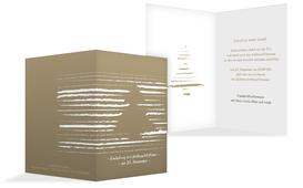 Weihnachts Einladungskarte privat Kreidentanne - Braun (K20)