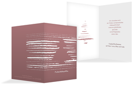 Weihnachts Grußkarte privat Kreidentanne - Rot (K20)