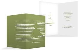 Weihnachts Grußkarte privat Kreidentanne - Grün (K20)
