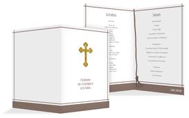 Menü zur Kommunion Gebetbuch - Braun (K38)