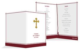 Menü zur Kommunion Gebetbuch - Rot (K38)