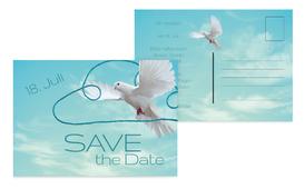 Save the Date Auf Wolke sieben - Hellblau (K25)
