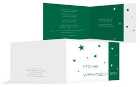 Weihnachtsgrußkarte Geschäftlich Classic Stars - Grün (K19)