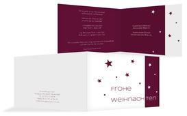 Weihnachtsgrußkarte Geschäftlich Classic Stars - Rot (K19)