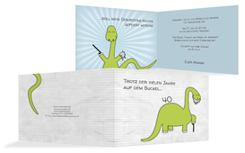 Geburtstagseinladung Dino - Grün (K19)