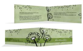 Dankeskarte Taufe Pusteblume - Grün (K33)