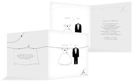 Einladungskarte dress and suit - Weiß (K24)