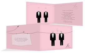 Einladungskarte suits - Rosa (K19)