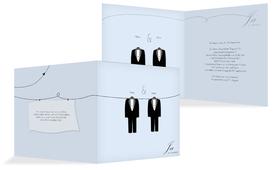 Einladungskarte suits - Hellblau (K24)