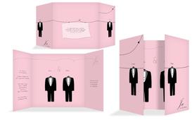 Einladungskarte suits - Rosa (K40)