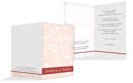Einladungskarte Blättertraum 2 - Rot (K20)