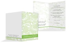 Einladungskarte Blättertraum 2 - Grün (K20)