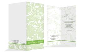 Einladungskarte Blättertraum 2 - Grün (K35)