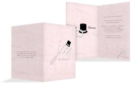 Einladungskarte Kette Zylinder - Rosa (K20)