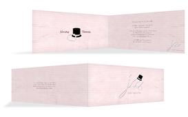 Einladungskarte Kette Zylinder - Rosa (K33)