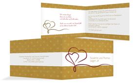 Einladungskarte Gepunktet 2 - Gelb (K19)