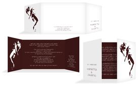 Hochzeitseinladung Tango - Rot (K39)
