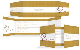 Einladungskarte Gepunktet 2 - Gelb (K41)