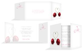 Einladung zur Hochzeit Kirsche - Pink (K39)