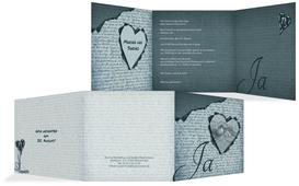 Einladung Herzensgedicht 2 - Türkis (K23)