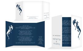 Hochzeitseinladung Tango - Dunkelblau (K40)