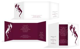 Hochzeitskarte Danke Tango - Rot (K39)