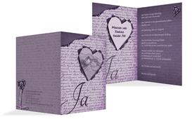 Einladung Herzensgedicht 2 - Lila (K20)